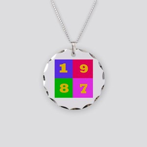 1987 Years Designs Necklace Circle Charm