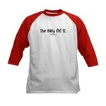 The baby did it Kids Baseball Jersey