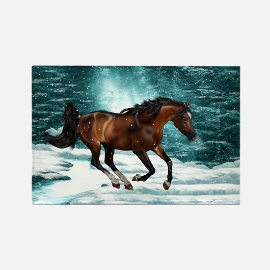 Winter Theme Arabian Horse Magnets