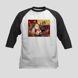 Santa's JRT pup Kids Baseball Jersey