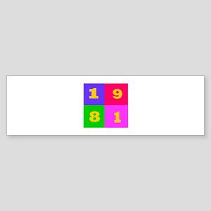 1981 Years Designs Sticker (Bumper)