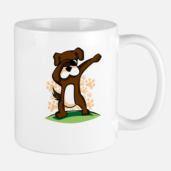Dabbing Boxer Dog Mugs