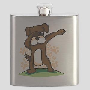 Dabbing Boxer Dog Flask