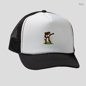 Dabbing Boxer Dog Kids Trucker hat