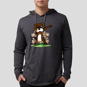 Dabbing Boxer Dog Long Sleeve T-Shirt