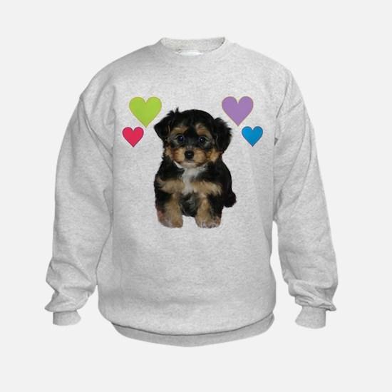 yorkiepoo_colorheart Sweatshirt