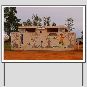 Outback toilet block, Australia Yard Sign