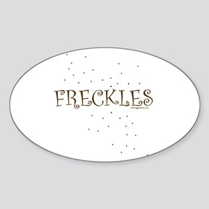 FRECKLES Oval Sticker