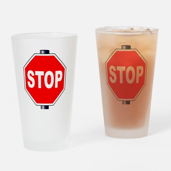 Unique Sided Drinking Glass