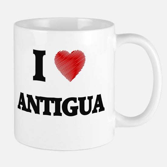 I Love Antigua Mugs