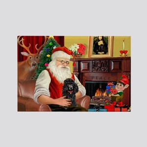 Santa Min Poodle (b) Rectangle Magnet