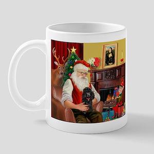Santa Min Poodle (b) Mug