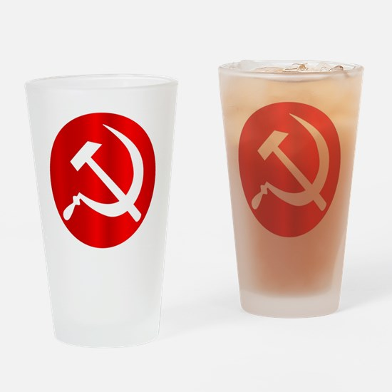 Funny Sickle and hammer Drinking Glass