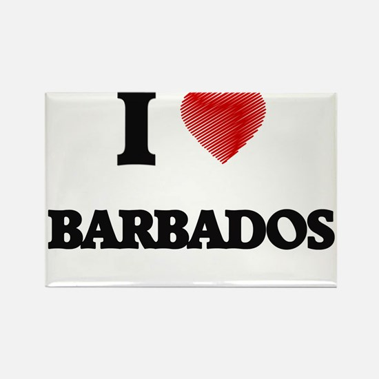 I Love Barbados Magnets