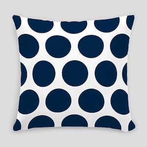 Blue, Navy: Polka Dots Pattern (La Everyday Pillow