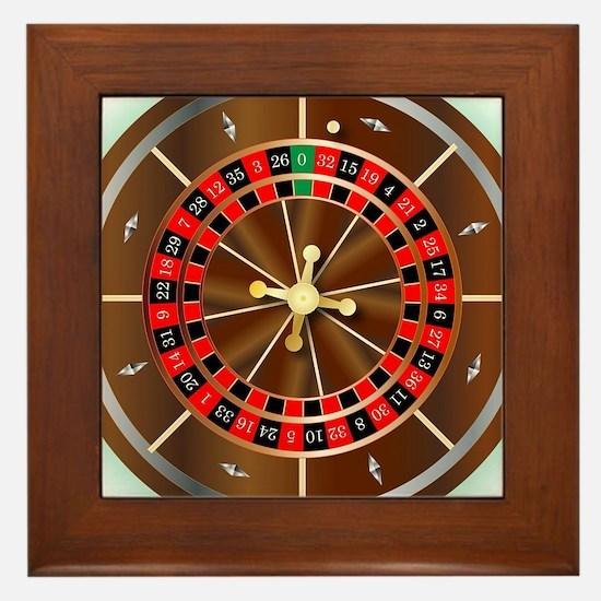 Cute Wheel fortune game Framed Tile