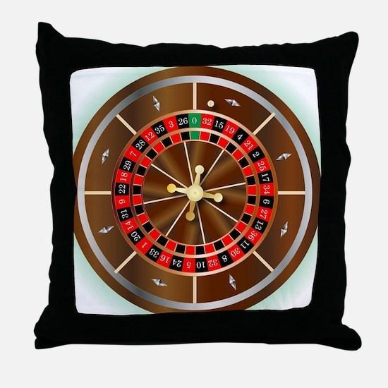 Unique Roulette Throw Pillow