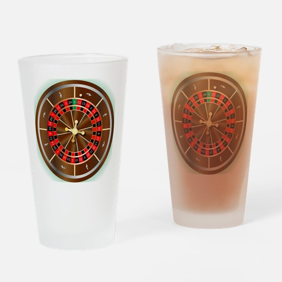 Funny Wheel of fortune Drinking Glass