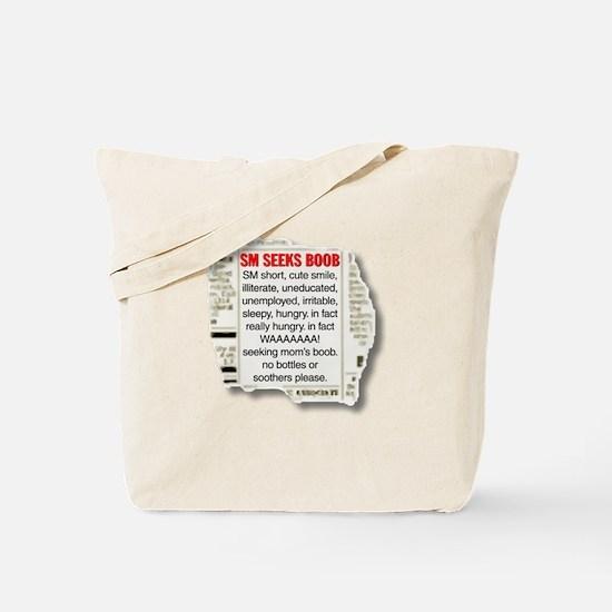 Baby Boy Breastfeeding Personal Ad Tote Bag