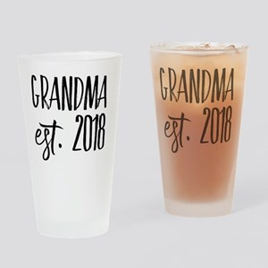 Grandma Est 2018 Drinking Glass
