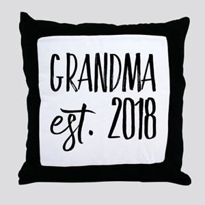 Grandma Est 2018 Throw Pillow