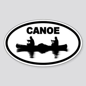 Canoe Oval Sticker