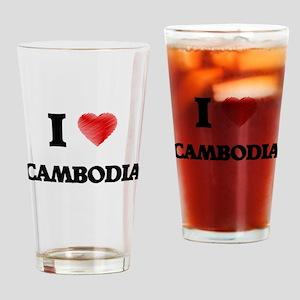I Love Cambodia Drinking Glass