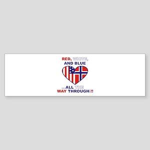 Flag Heart (bumper) Bumper Sticker