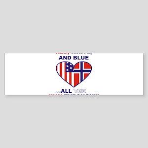 Flag heart Sticker (Bumper)