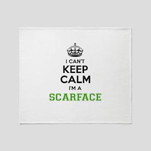 Scarface I cant keeep calm Throw Blanket
