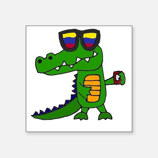 Alligator in Sunglasses Sticker