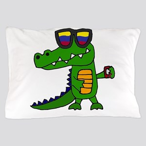 Alligator in Sunglasses Pillow Case
