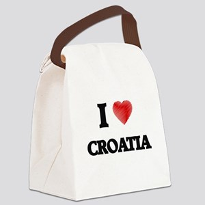 I Love Croatia Canvas Lunch Bag