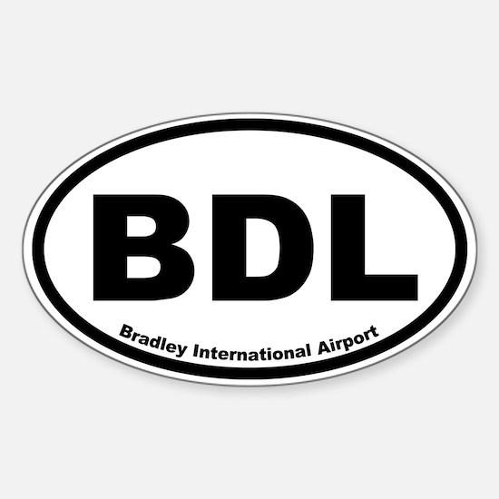 Bradley International Airport Oval Decal