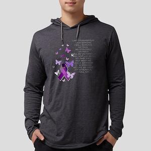 Purple Awareness Ribbon Long Sleeve T-Shirt
