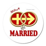 Married Round Car Magnet