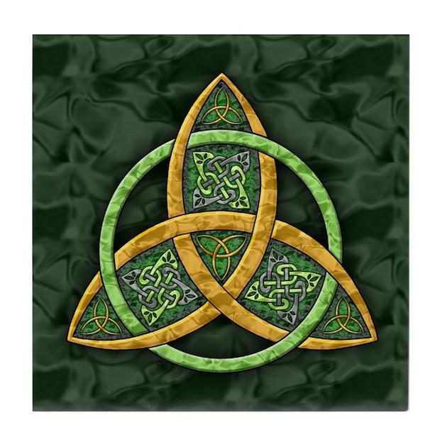 Celtic Trinity Knot Tile Coaster by artoffoxvox
