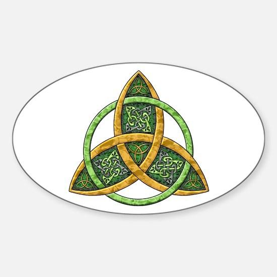 Celtic Trinity Knot Oval Bumper Stickers