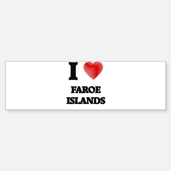 I Love Faroe Islands Bumper Car Car Sticker