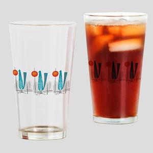 Mid-Century Modern Birds Drinking Glass