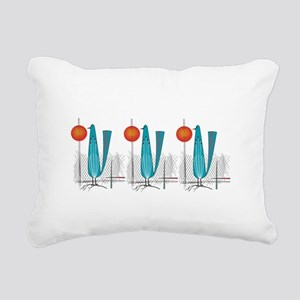 Mid-Century Modern Birds Rectangular Canvas Pillow