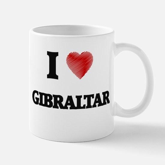 I Love Gibraltar Mugs