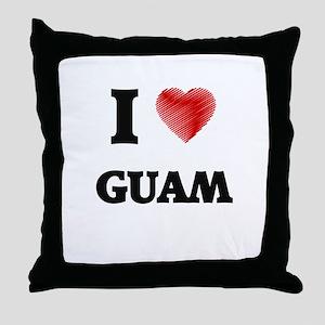 I Love Guam Throw Pillow