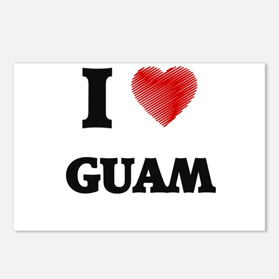 I Love Guam Postcards (Package of 8)