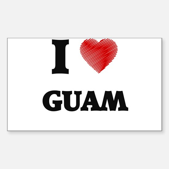 I Love Guam Decal