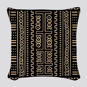 Mud Cloth Woven Throw Pillow