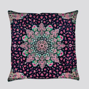 Antique Vintage Pink Persian Rug Everyday Pillow