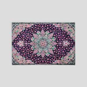 Antique Vintage Pink Persian Rug 4' x 6' Rug