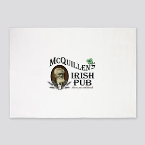 McQuillen's Irish Pub 5'x7'Area Rug