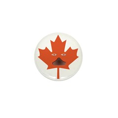 Halloween Maple Leaf Mini Button (10 pack)